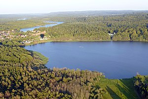 Silkeborg Forests - Aerial view of Silkeborg Forests.