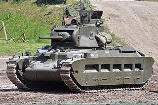 Matilda II British Army tank of World War II
