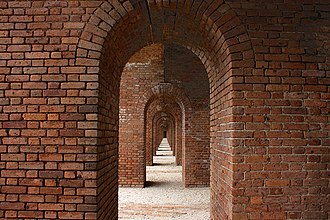 Dry Tortugas National Park - Brick archway in Fort Jefferson