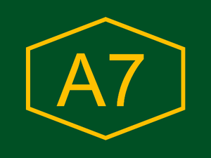 A6 motorway (Cyprus) - A7 highway logo