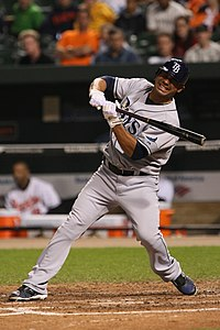 Carlos Pena with the Rays