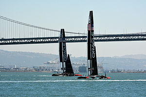 Oracle Team USA - Team Oracle AC 72 boats