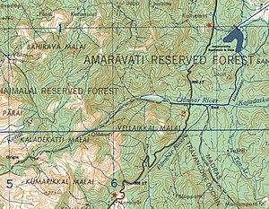 Chinnar River - Chinnar river and Pambar river merge to become Amaravati river