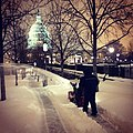 AOC Employee Clearing Snow at the Capitol February 13, 2014 (12513034394).jpg