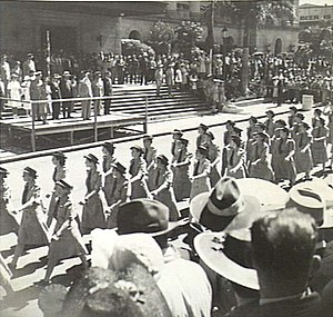 Australian Women's Army Service -  Brisbane 24 March 1945, AWAS from the Northern Territory during the Victory Loan March