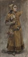 A Girl. Study for Valdemar Atterdag Holding Visby to Ransom, NM 1431 (Carl Gustaf Hellqvist) - Nationalmuseum - 20605.tif