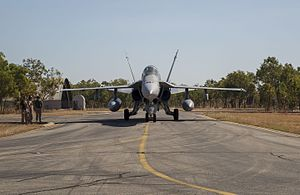 RAAF Base Tindal - A United States Marine Corps F/A-18C Hornet at RAAF Base Tindal in 2016.