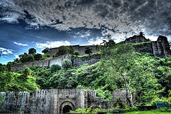 Kangra Fort, 20 kilometres from the town of Dharamshala