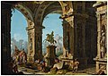 A capriccio view of a classical portico with Alexander The Great before the tomb of Achilles.jpg