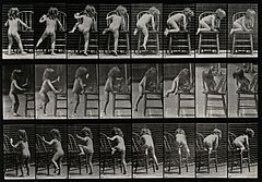 A little girl climbing on to a chair. Photogravure after Ead Wellcome V0048723.jpg