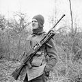 A member of No. 9 Commando at Anzio, equipped for a patrol with his Bren gun, 5 March 1944. NA12469.jpg