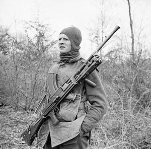 No. 9 Commando - A member of No. 9 Commando at Anzio, 5 March 1944