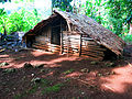 A traditional food hut for storing yam, taro and other food crops. (10663868665).jpg