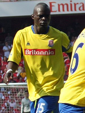 Abdoulaye Faye - Faye playing for Stoke City in 2009