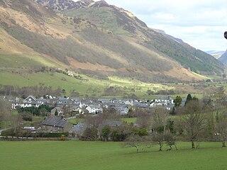 Abergynolwyn Village in North Wales