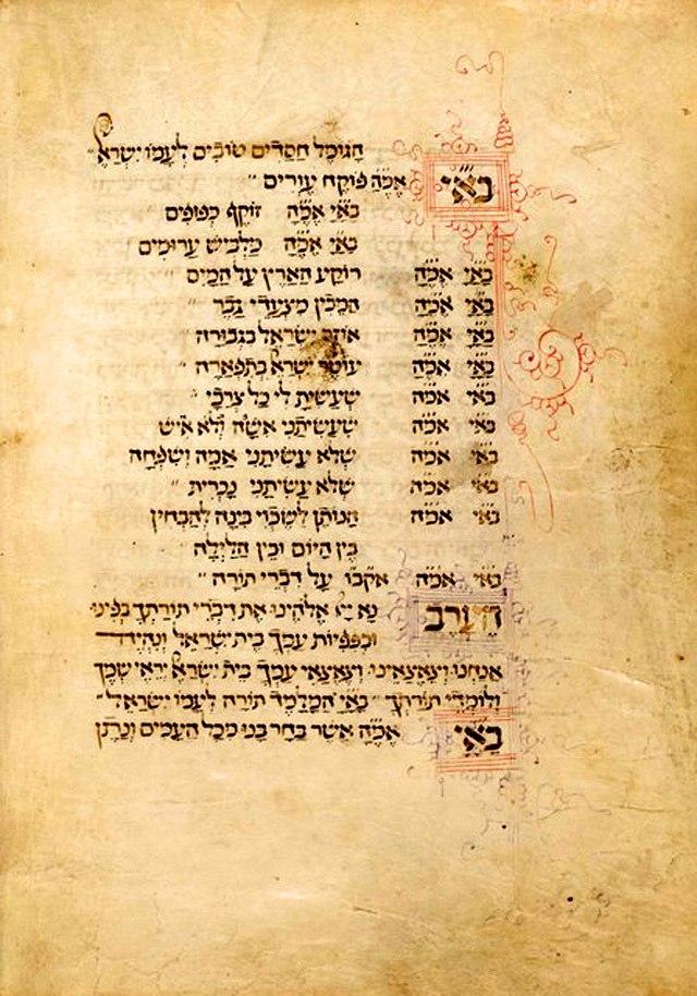 Abraham ben Mordecai Farissol Mahzor 1471.