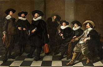 Amsterdam Museum - Regents of the old city orphanage, painting by Abraham de Vries can still be seen in the wall of the regent's room where it was installed in 1633