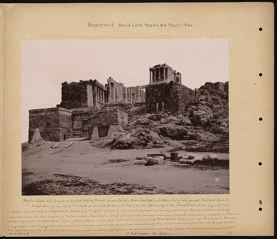 Acropolis. Beulé Gate. Propylaea. Temple Nike