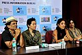 """Actress and Director of the film """"Soul of Asia"""" Golshifteh Farahani and the team of the film interacting with the Media at a Press Conference, at the 44th International Film Festival of India (IFFI-2013), in Panaji, Goa.jpg"""