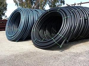 That hdpe pipe with welding strip join told