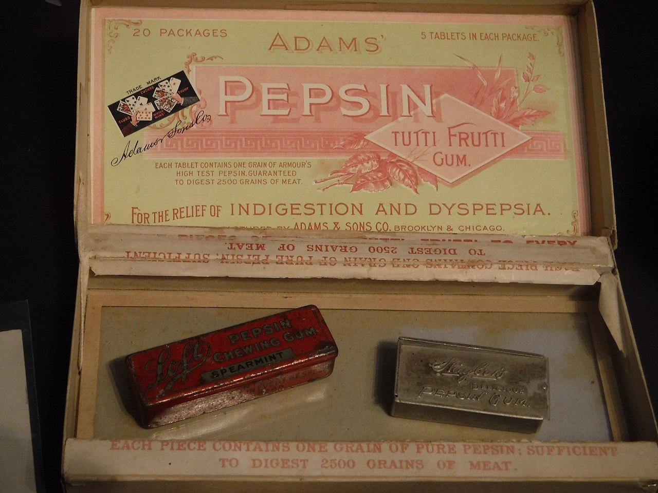 Modern-day chewing gum