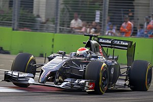 Adrian Sutil Singaporen GP:ssä 2014