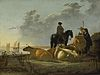 Aelbert Cuyp - Peasants with Four Cows by the River Merwede - WGA5825.jpg