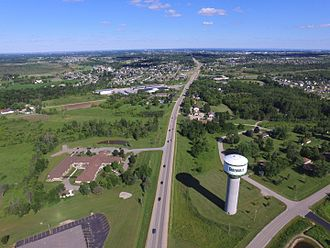 Greenville, Wisconsin - Image: Aerial Greenville