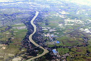 Angat River - Aerial view of Angat River