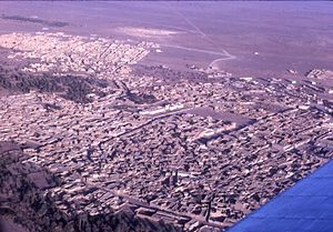 Атар: Aerial view of Atar, Mauritania, 1967-1