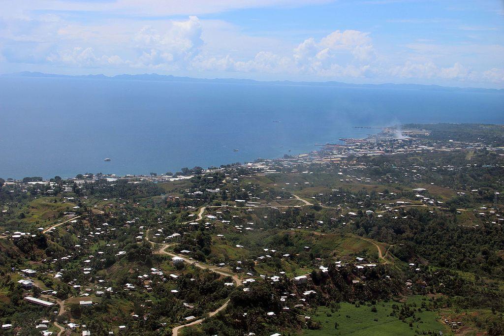 Aerial view of Honiara, 2013