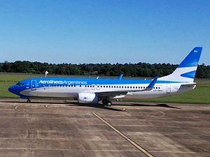 Cataratas del Iguazú International Airport - An Aerolíneas Argentinas Boeing 737-800 at the airport in 2017.