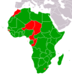 African Union countries that have not recognised South Sudan map.png