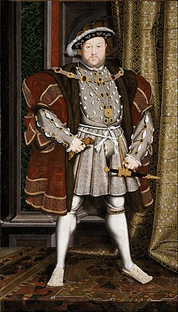 Henry VIII of England in tights After Hans Holbein the Younger - Portrait of Henry VIII - Google Art Project.jpg