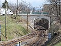 Agancs road bridge over cogwheel railroad. - Budapest, 12th district, Agancs Way.JPG