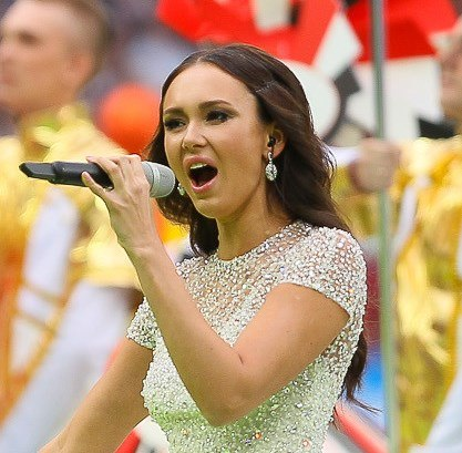 Aida Garifullina at the 2018 FIFA World Cup opening ceremony