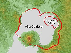 Aira Caldera - Relief Map