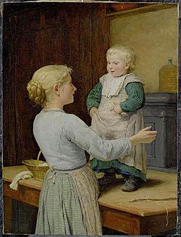 Albert Anker Die ältere Schwester c1889