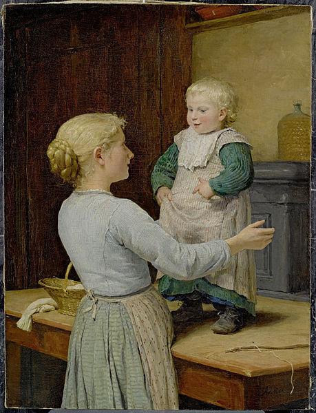 File:Albert Anker Die ältere Schwester c1889.jpg