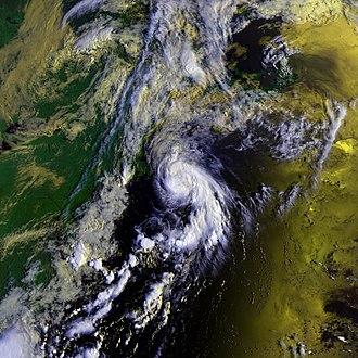 1988 Atlantic hurricane season - Image: Alberto 07 aug 1988 1242Z