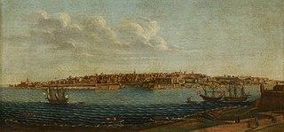 Valletta from Marsamxett looking over Fort Manoel