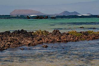 Punta Delgada Lighthouse (Spain) - View of Alegranza Island