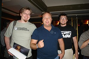 Alex Jones (radio host) - Image: Alex Jones With Fans