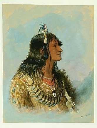 Snake Indians - Ma-wo-ma, a 19th-century leader of approximately 3,000 Snake Indians, portrait by Alfred Jacob Miller and resides at the Walters Art Museum.