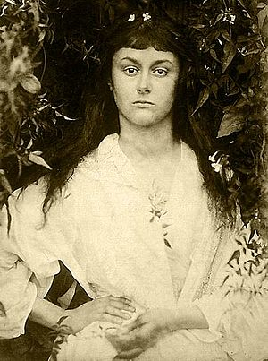 "Collodion - Julia Margaret Cameron's ""Alice Liddell as a Young Woman"" print from wet collodion negative"