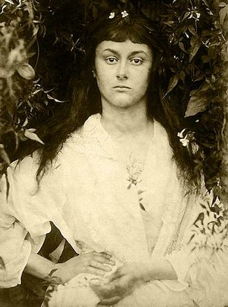 """Collodion - Julia Margaret Cameron's """"Alice Liddell as a Young Woman"""" print from wet collodion negative"""