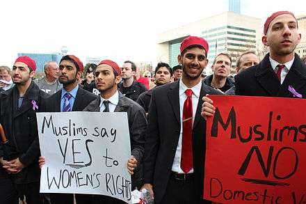On March 23, 2013, members of Alif Laam Meem, a national Muslim fraternity based at the University of Texas at Dallas, stood up against domestic violence as Muslims and as men of Dallas.