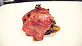 Alinea Wagyu Beef, maitake, smoked date, Blis Elixir (2771963944).jpg