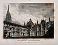All Souls College, Oxford; chapel, with St. Mary's Church an Wellcome V0014065.jpg