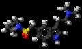 Almotriptan molecule ball.png